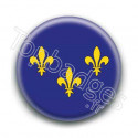 Badge drapeau Ile de France