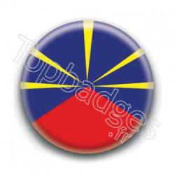 Badge drapeau La Réunion