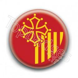 Badge drapeau Languedoc-Roussillon
