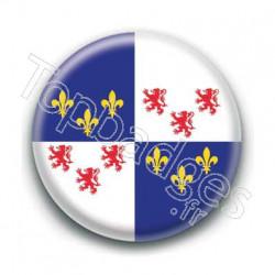 Badge drapeau de la Picardie