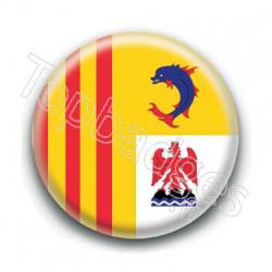 Badge drapeau Provence Alpes Cote d'Azur