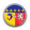 Badge drapeau Rhône Alpes