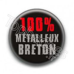 Badge 100 pour-cent métalleux breton