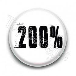 Badge 200 pour cent