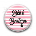 Badge bébé breton fille