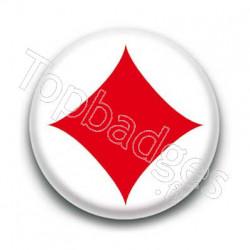 Badge carreau rouge