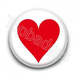 Badge cœur rouge