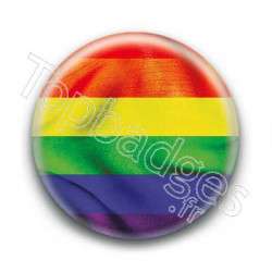 Badge Drapeau gay