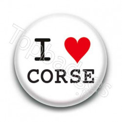 Badge I Love Corse