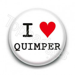 Badge I Love Quimper