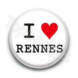 Badge I Love Rennes