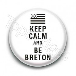 Badge Keep calm and be breton