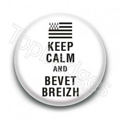 Badge Keep calm and bevet breizh