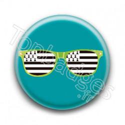 Badge Lunettes vertes drapeau breton