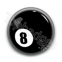 Badge Eight Ball