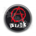 Badge Red Anarchy Punk
