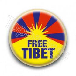 Badge Free Tibet Drapeau