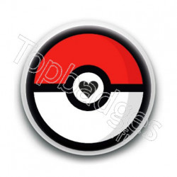 Badge Pokéball Coeur
