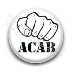 Badge ACAB blanc