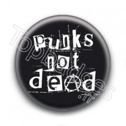 Badge Punks Not Dead