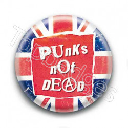 Badge Punks Not Dead - England