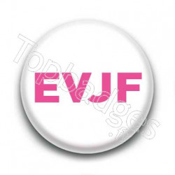 Badge EVJF rose sur fond blanc