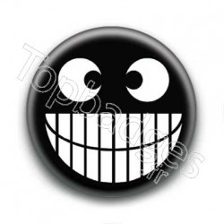 Badges smiley badges sur le th me des smiley topbadges - Smiley noir et blanc ...