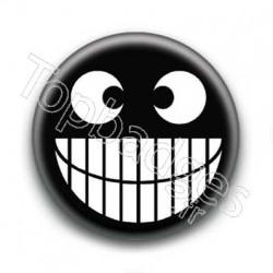 Badge Smile noir