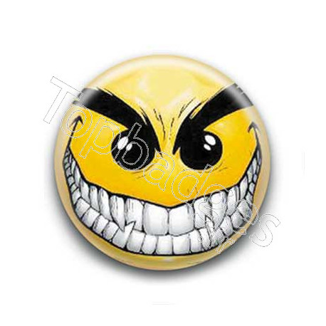 Badge : Smiley méchant