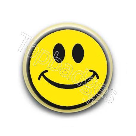 Badge : Smiley centré jaune