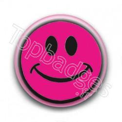 Badge Smiley Fushia