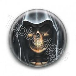 Badge Tete de mort avec capuche