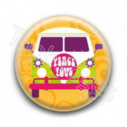 Badge : Van peace & love