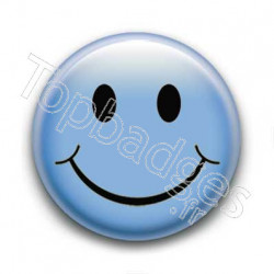 Badge Smiley Bleu