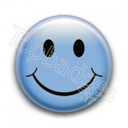 Badge Smiley Bleu