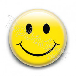 Badge Smiley Jaune
