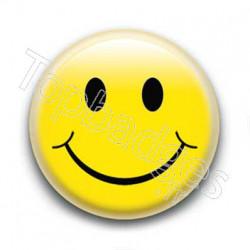 Badge Smiley Jaune