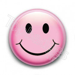 Badge : Smiley rose