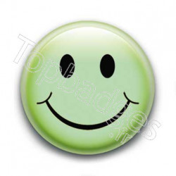 Badge Smiley Vert