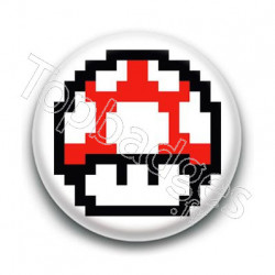 Badge Champignon Rouge Mario