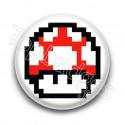 Badge Champignon Rouge Mario