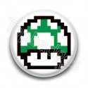 Badge Champignon Vert Mario
