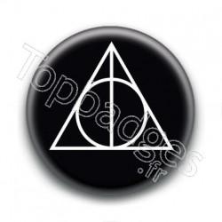 Badge Reliques de la Mort Blanc et Noir