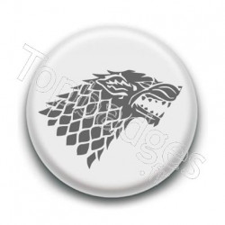 Badge Blason Maison Stark Games of Thrones