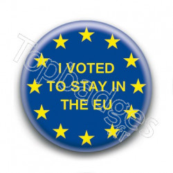 Badge Europe I voted to stay in the EU