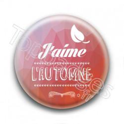 Badge : J'aime l'automne