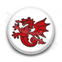 Badge Symbole Dragon Rouge Breton