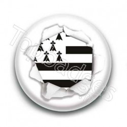 Badge Déchirure Drapeau Breton