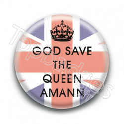 Badge : God save the queen amann