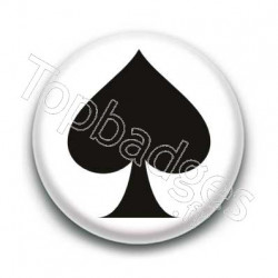 Badge pique noir